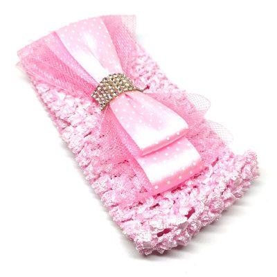 Trendilook Pink Elastic Bow Hairband