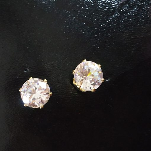 Cubic Zirconia Stud Size 3 Earring for womens