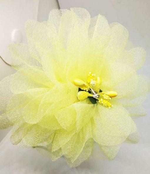 Trendilook Yellow Flower Net and Tulip Hairband