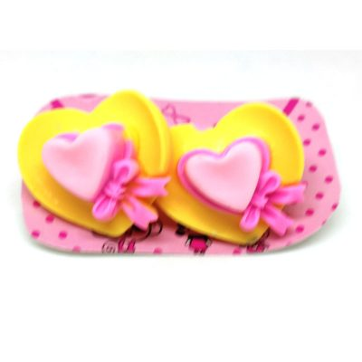 Heart Cap Flower Rubberband for Kids