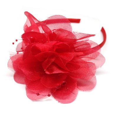 Trendilook Red Stylish Kids Lace Hairband for Party