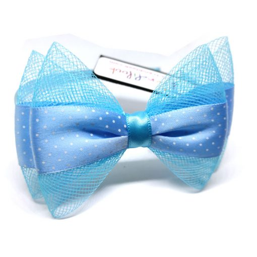 Trendilook Blue Bow Ribbon and Net Hairband