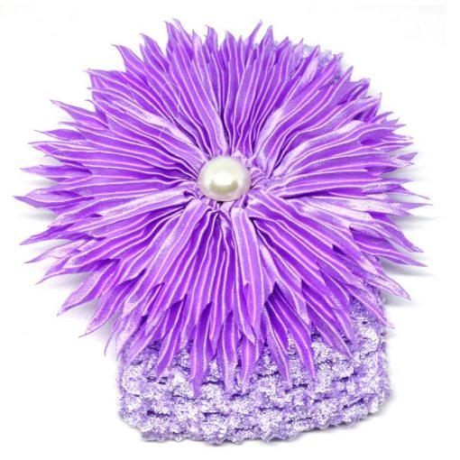 Trendilook Purple Sun Flower Elastic Hairband