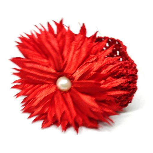 Trendilook Red Sun Flower Elastic Hairband