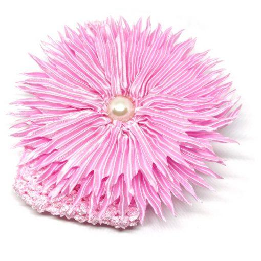 Trendilook Pink Sun Flower Elastic Hairband