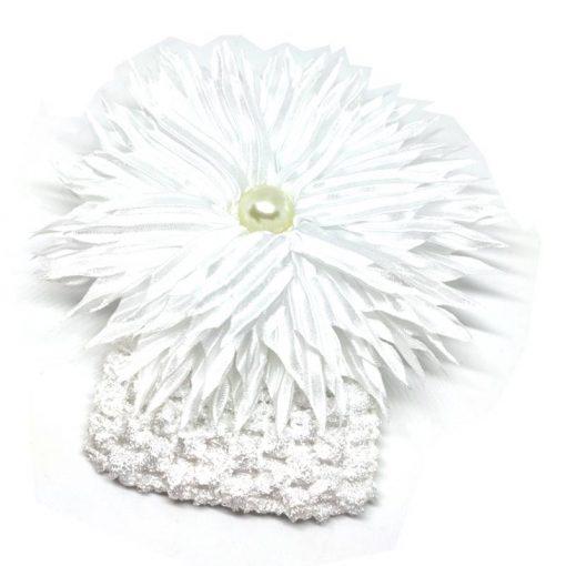Trendilook White Sun Flower Elastic Hairband
