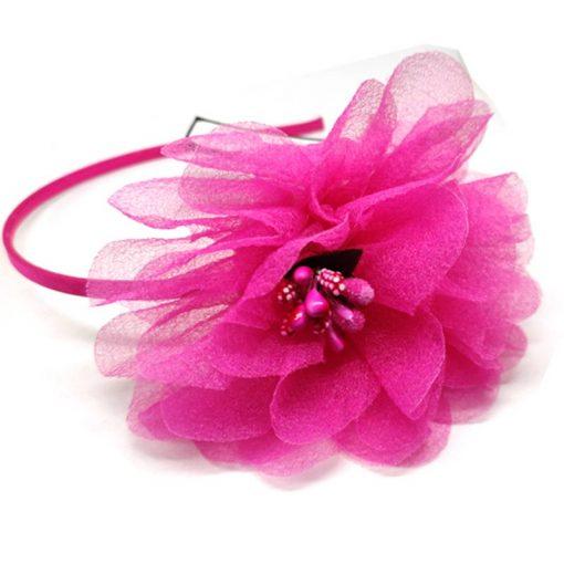 Trendilook Pink Flower Net and Tulip Hairband