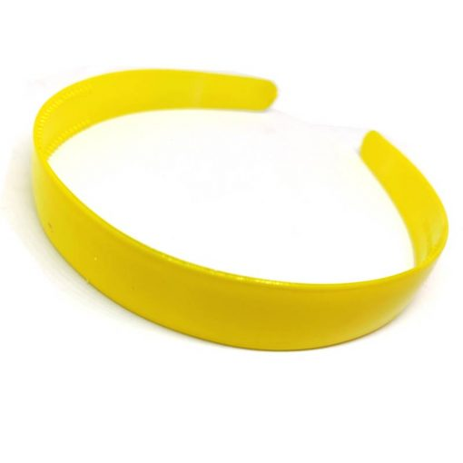 Trendilook Yellow Unbreakable Big Size Single Color Hairband
