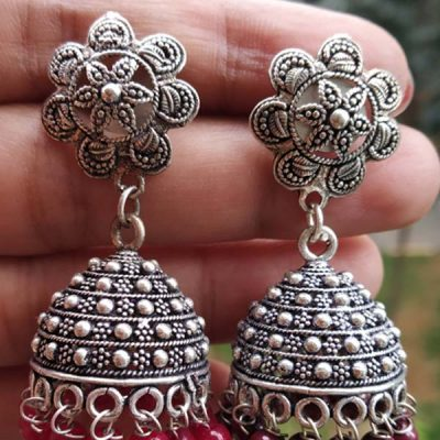 Trendilook German Silver Jhumki
