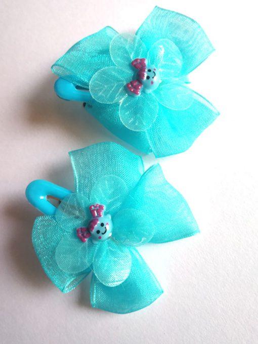 Trendilook Net Flower Clip for Girls
