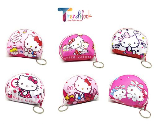 Trendilook Hello Kitty Coin Purse Mini PU Key Chain Small Purse / Pouch - All