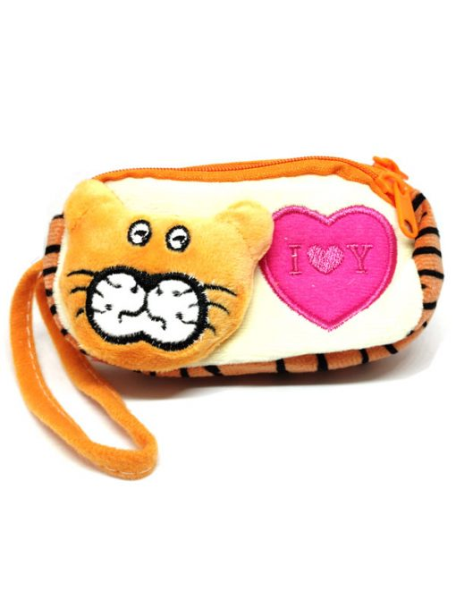 Trendilook Beautiful Soft Animal Face Pencil Purse / Pouch For Kids - Theme3