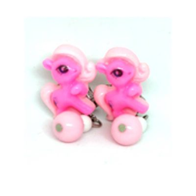 Trendilook Pink Kids Unicorn Clip On (Tic-Tak) Earring
