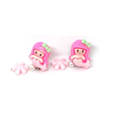 Trendilook Pink Kids Fish Doll Clip On (Tic-Tak) Earring