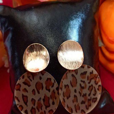 Trendilook Tiger Print Looped Fancy Earring