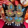 Trendilook Oxidized Gold Layered Earring