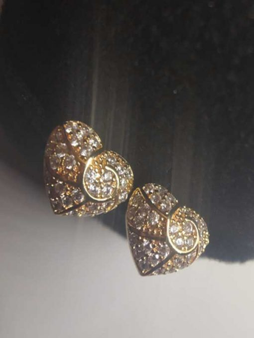 Trendilook Heart AD Gold Plated Earring