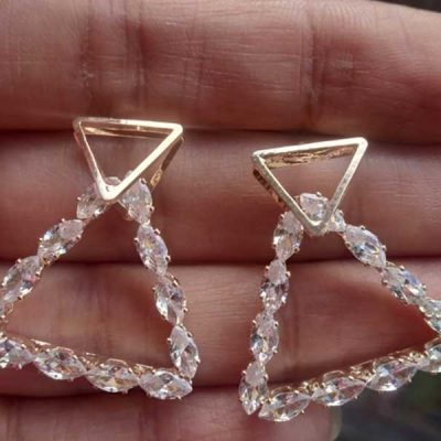 Trendilook AD Gold Plated geometric Earring