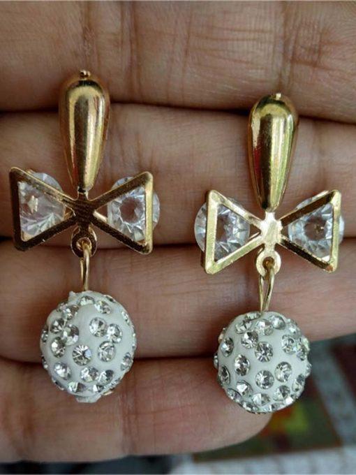 Trendilook Crystal Boll Drop Earring
