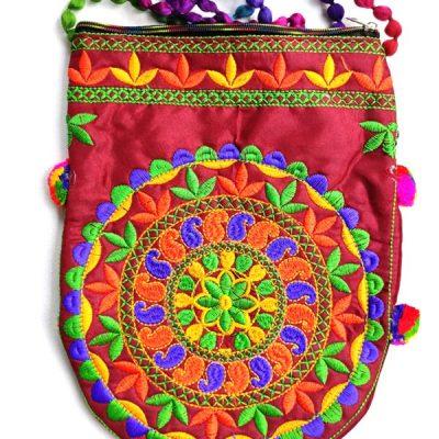 Trendilook Handmade Orange Circle Big Sling Bag for Ladies and Girls