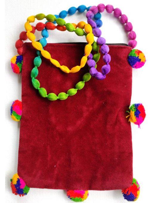 Trendilook Handmade Blue Flower Small Sling Bag for Ladies and Girls