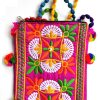 Trendilook Handmade Red Flower Small Sling Bag for Ladies and Girls