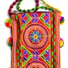 Trendilook Handmade Orange Flower Small Sling Bag for Ladies and Girls