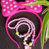 Trendilook Light Bow Hairband with Neckpiece and Bracelet