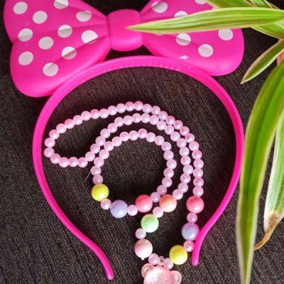 Trendilook Light Bow Hairband with Neckpiece and Bracelet