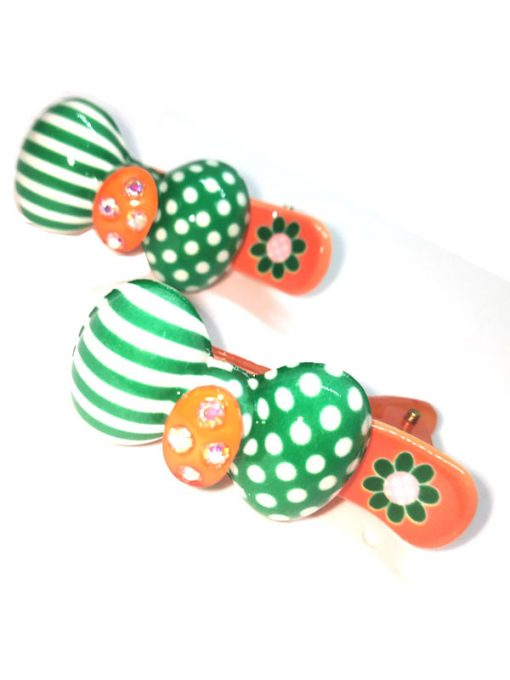 Trendilook Bow Stone work Clips for Kids