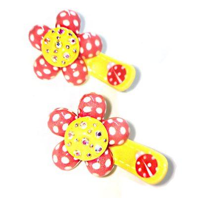 Trendilook Flower Stone Work Clips for Kids