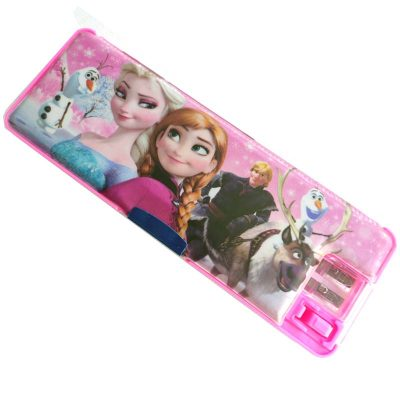 Trendilook Matt Finished Frozen Magnetic Dual Side Pencil Box with Light Lamp