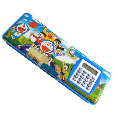 Trendilook Doremon Magnetic Dual Side Small Pencil Box with Calculator