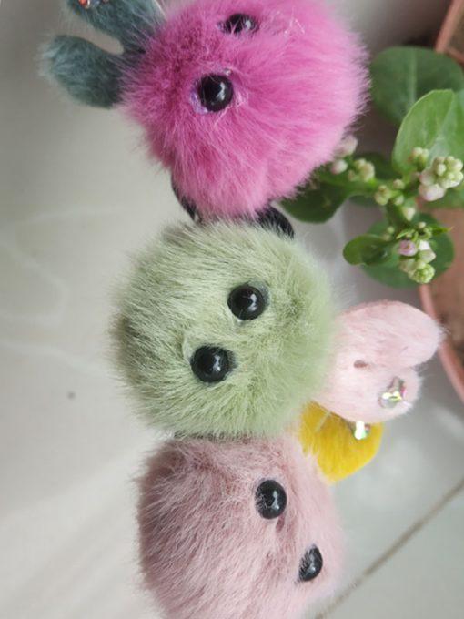 Trendilook Bunny Fur Multi Colour Rubberband