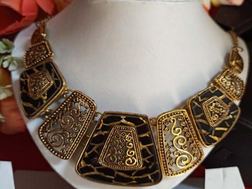 Trendilook Oxidized Gold Choker Neckpiece
