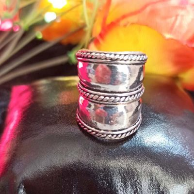 Trendilook Oxidized Matallic Adjustable Finger Ring
