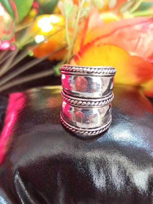 Trendilook Oxidized Matallic Adjustable Finger Ring