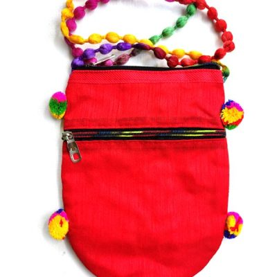 Trendilook Handmade Red Peacock Sling Bag for Ladies and Girls