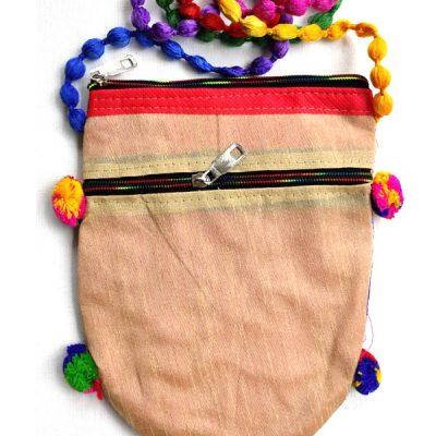 Trendilook Handmade Cream Sling Bag for Ladies and Girls