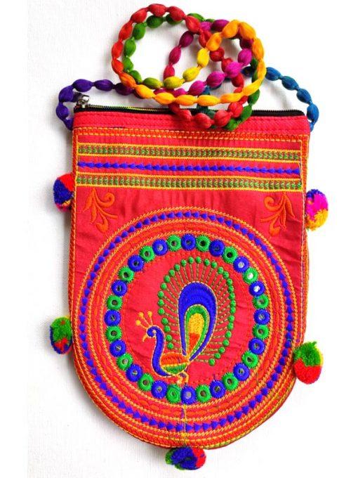 Trendilook Handmade Orange Sling Bag for Ladies and Girls