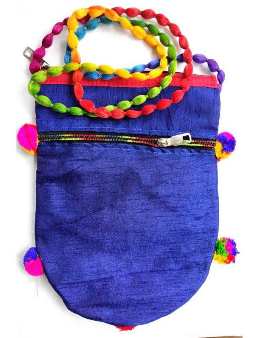Trendilook Handmade Blue Elephant Sling Bag for Ladies and Girls