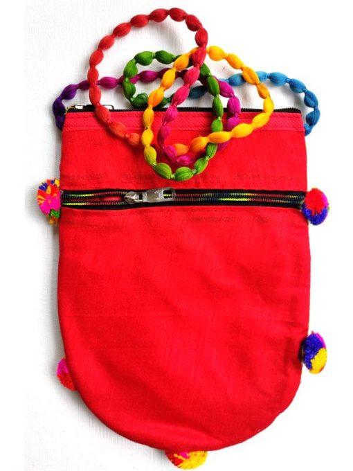 Trendilook Handmade Orange Circle Sling Bag for Ladies and Girls