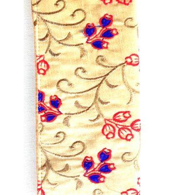 Trendilook Handmade Valvet Resham Tulip Flower Hand Wallet for Ladies and Girls