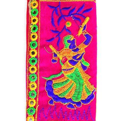 Trendilook Handmade Valvet Resham Dandiya Hand Wallet for Ladies and Girls