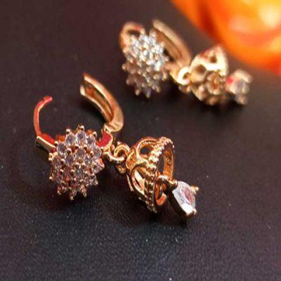 Trendilook AD Cute Flower Jhumki Earring