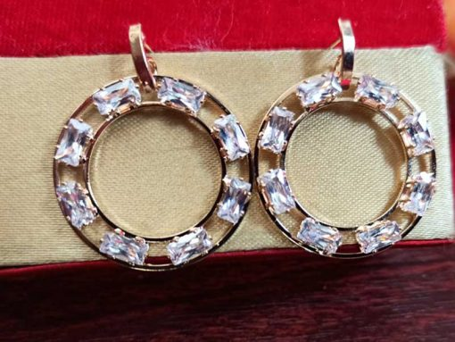 Trendilook Premium Quality Gold Plated AD looped Earring