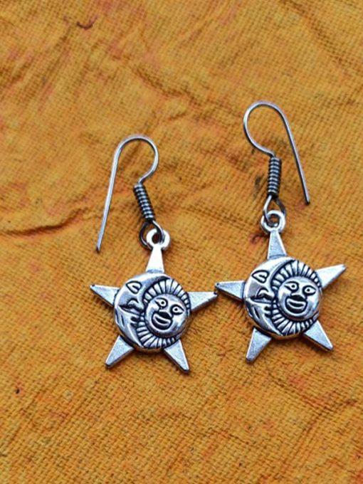 Trendilook German Silver Sun Drop Earring