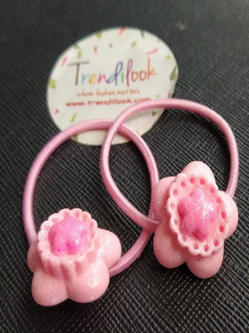 Trendilook Flower Rubberband one Pair