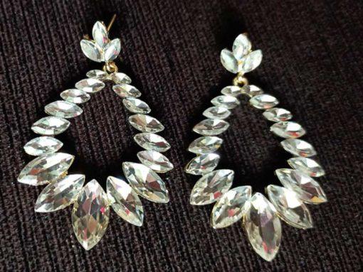 Trendilook White Crystal Party Wear Earring