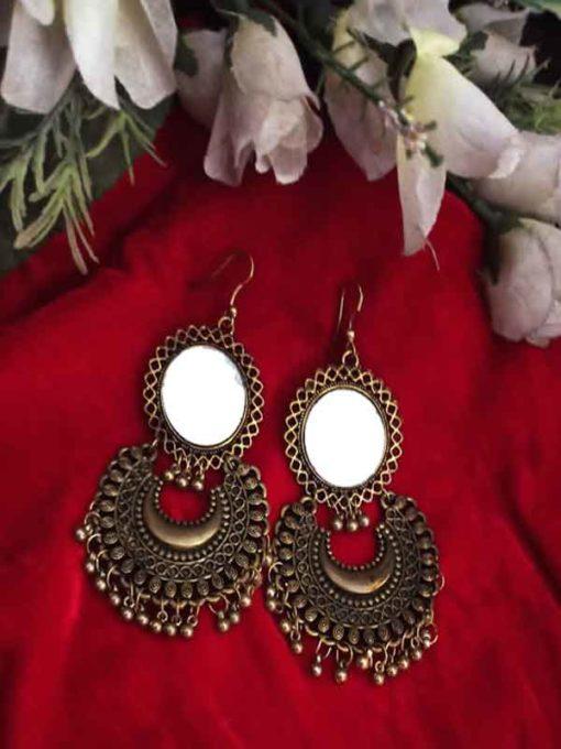 Trendilook German Gold Mirror Earring